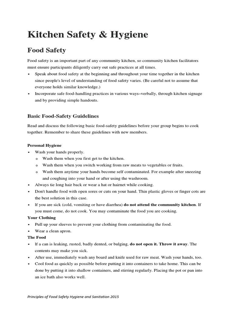 Kitchen Safety | Foods | Food & Wine