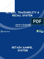 11. Retain Traceability Recall System