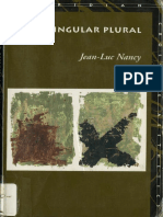 Jean-Luc Nancy - Being Singular Plural