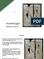 Egypt Papyrus Slideshow KS2