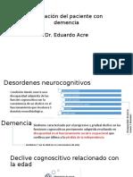 Evaluación Del Paciente Con Demencia