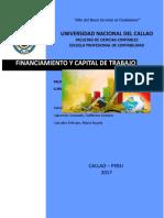 Financiamiento y Capital de Trabajo