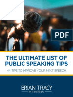 44 Public Speaking Tips