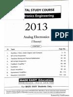 Analog Electronics notes