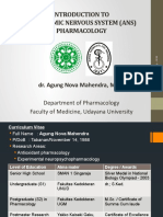 ANS Pharmacology (Intro) - dr. Agung - 2016.pptx