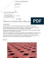 Elements of Composition in Photograpy