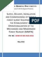 ITB - Modernized Forest Nursery