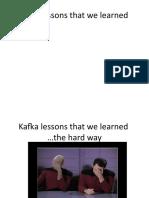 Kafka Lessons