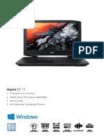 "Acer Aspire VX 15 Quad Core i7-7700HQ 15.6"" Full HD Gaming Notebook (GTX1050)"
