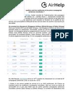 Communique de Presse AirHelp Score June 2017