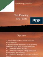 איל הורוביץ לתאר על האסטרטגיות תכנון מס