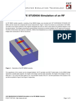 Cst Microwave Studio Simulation of an Rf Mems Varactor