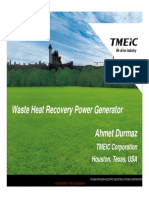 Orc Waste Heat Recovery