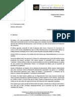 Carta al Ministro de Interior