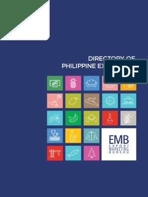 Directory Of Philippine Exporters