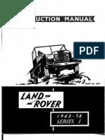 Land Rover Series I 19481958 Instruction Manual