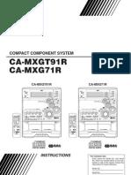 Jvc CA-mxgt91r 350w Hi-fi System Manual