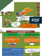 Tecnica e Instrumentos de Evaluacion