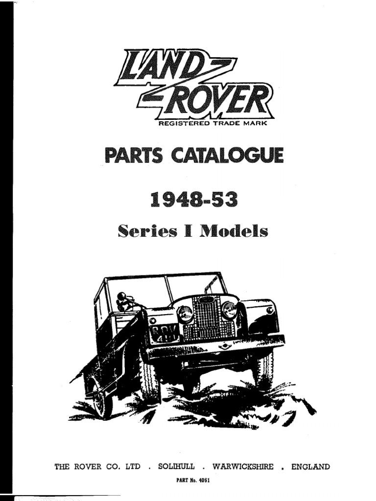 Land Rover Parts Catalogue 214 Fuse Box Location