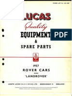 Land Rover Lucas Spare Parts - Series I (1957)