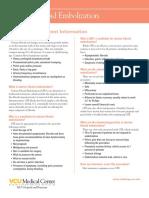 Uterine fibroid embolization