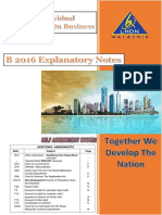 Explanatory Notes for B-Filing Malaysia 2016