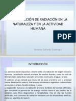 Identificación de Radiación en La Naturaleza Y en La Actividad Humana