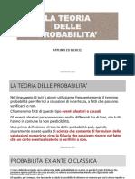 Teoria delle Probabilità by Andrea Prevete