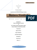 Project Report on Business Standarad
