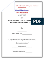 A SAMPLE PROJECT REPORT ON UNDERSTAND THE ECOSYSTEM IN DIGITAL MEDIA MARKETING.docx