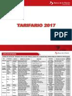 Tarifario BN 2017