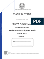 Soluzioni prove invalsi Italiano 2017