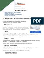 Escribir Cartas en Francés