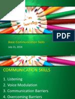 Basic Communication Skills July 13 2016