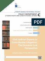 Civil Judicial Experts in Cross Border Litigation_common Law