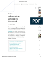 Administrar Grupos de Facebook