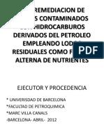 Bioremediacion Lodos p