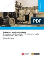 Colonizar en el periurbano. El caso de la colonia agricola 17 de octubre/La Capilla, Florencio Varela, 1946-1966