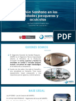 Gestión Sanitaria en Las Actividades Pesqueras y Acuícolas SANIPES
