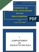 1-Présentation F. Schlosser. Détermination Des Paramètres Géo. Sousse 2014
