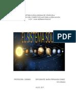 Trabajo Sistema Solar