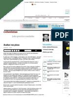 Acabar Em Pizza - 03-05-2016 - João Pereira Coutinho - Colunistas - Folha de S