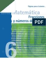 Fracciones y numeros decimales 6º Alumnos
