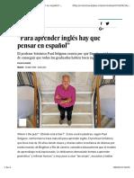 Para Aprender Inglés Hay Que Pensar en Español