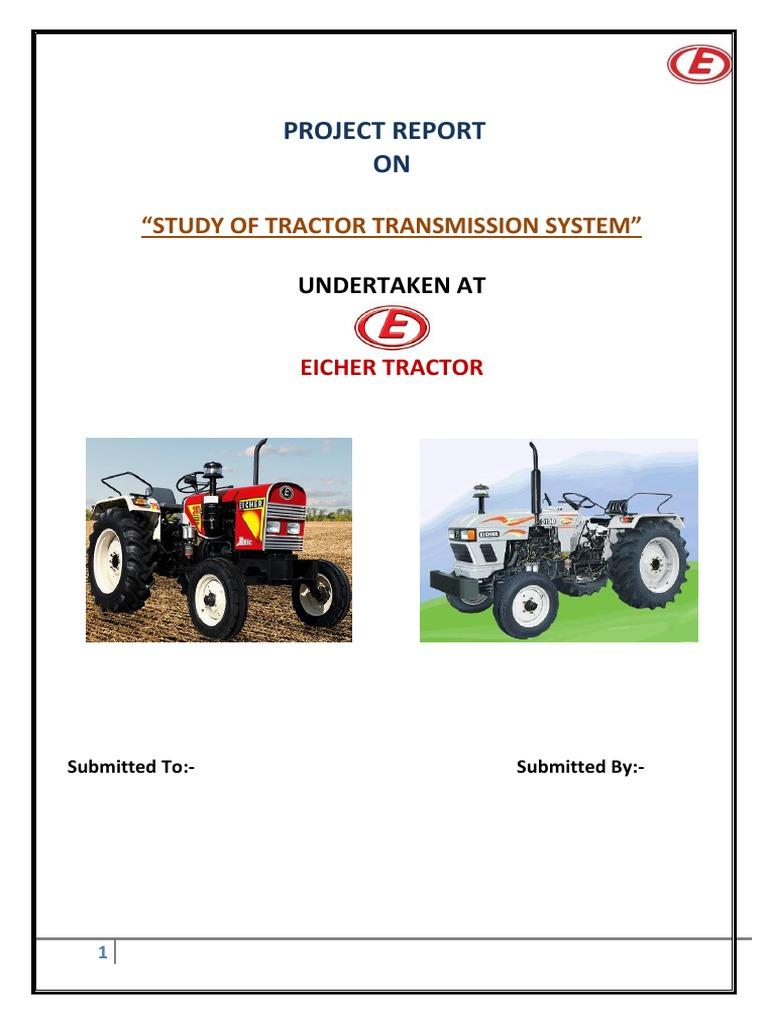 Eicher Project | Transmission (Mechanics) | Supply Chain