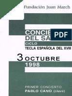 Programa Fund March octubre 98 Clave español