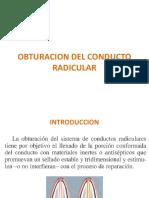 Obturación Del Conducto Radicular