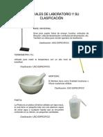 Materiales de Laboratorio y Su Clasificación