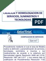 Presentacion Creacion de Servicios y Homologacion 1