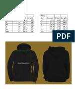 Sweatshirts Size Specification